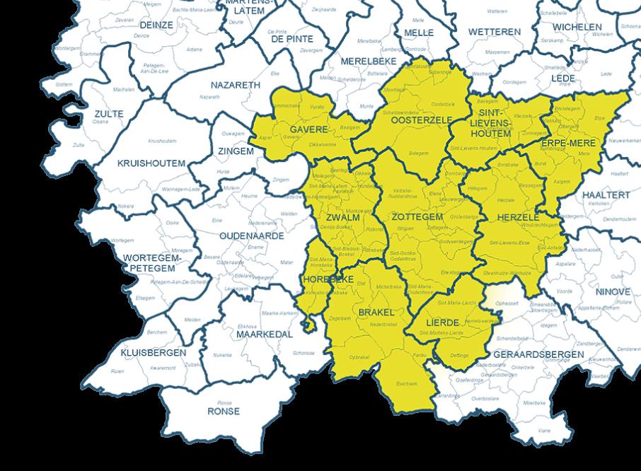 de-ronde-van-bas-regio-zottegem-kaart